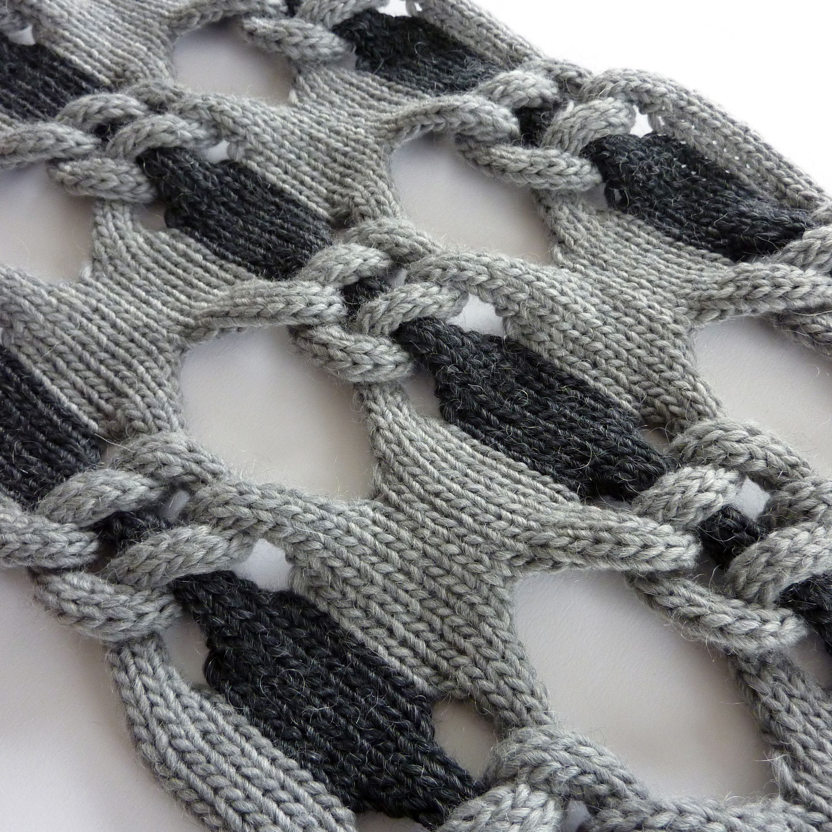 knitting instructions knot 1.purl 1