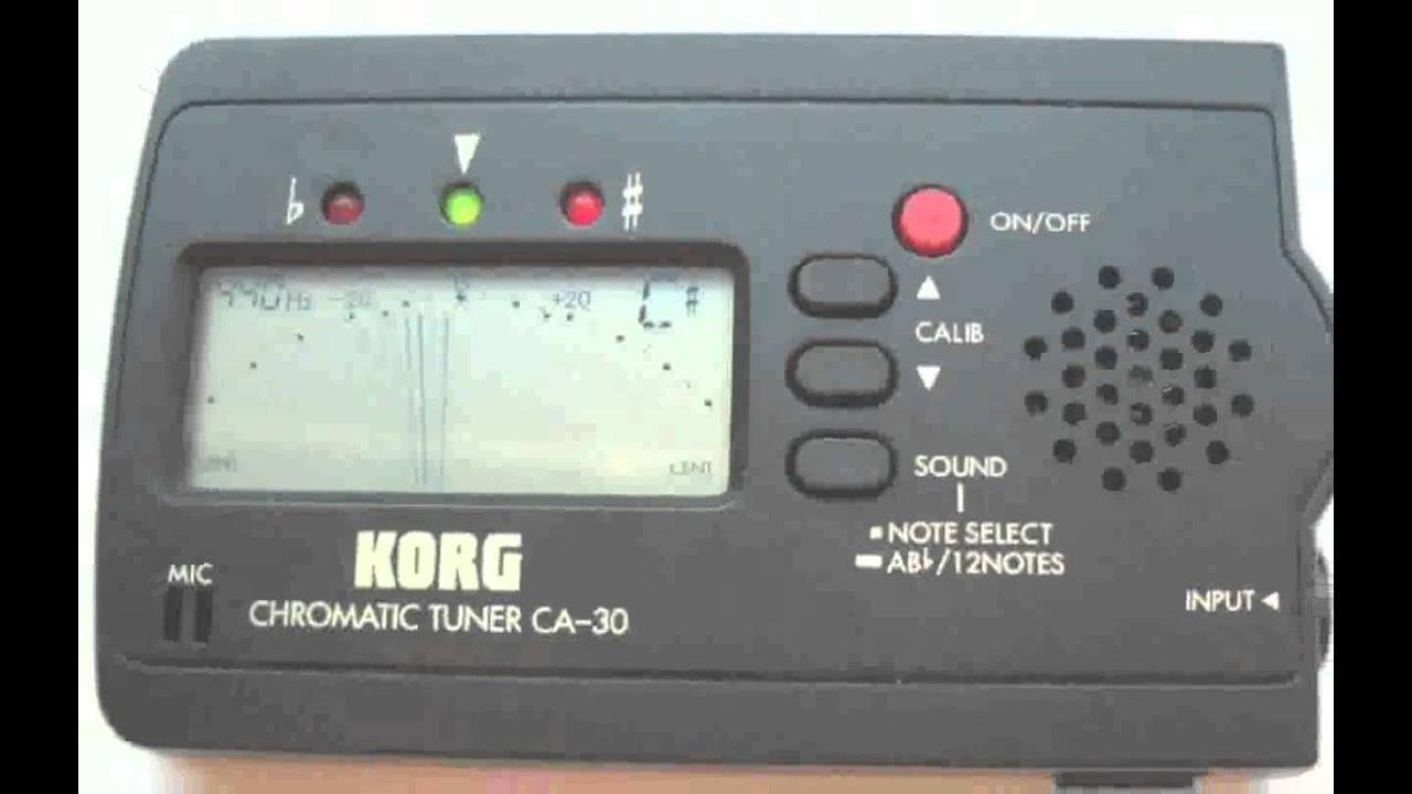 korg guitar tuner gt-3 instructions