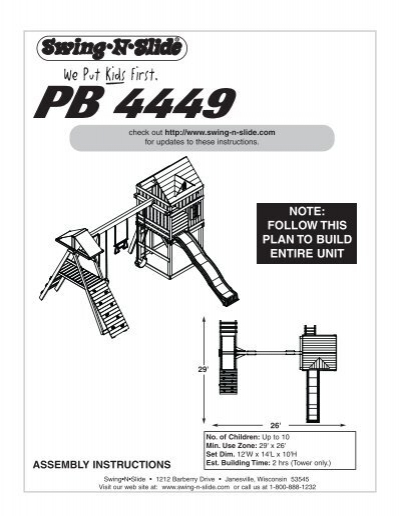 plum lookout tower assembly instructions