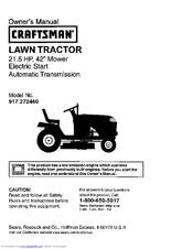 craftsman lt 1500 instruction manual