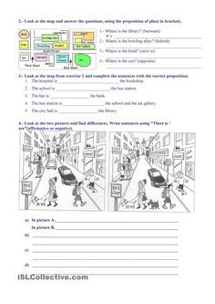 esl give instructions worksheets