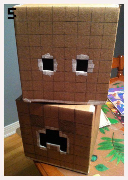 the amazing minecraft cardboard head instructions