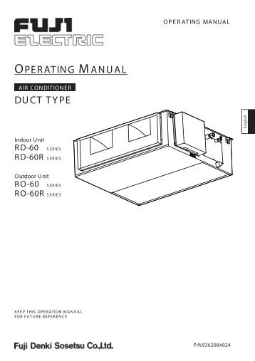 daiken ducted operating instructions