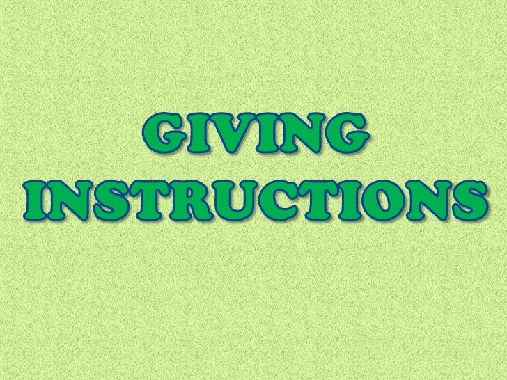 benefits of giving clear instructions