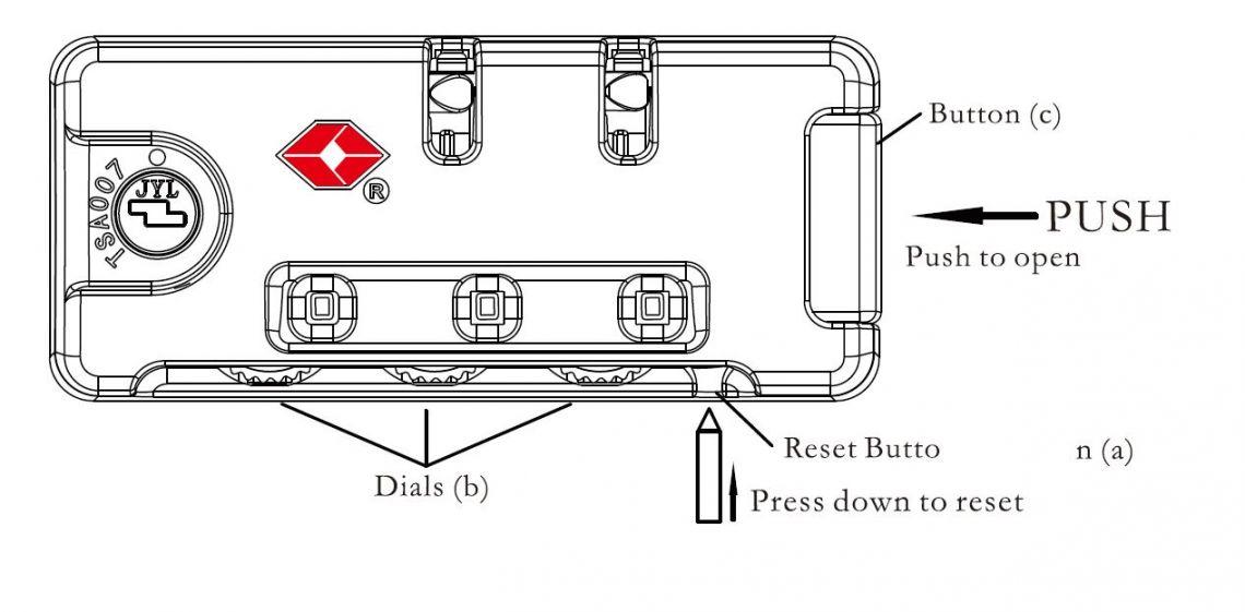 tripp luggage lock instructions