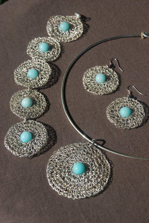 crochet wire beaded bracelet instructions