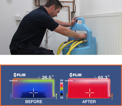 how to power flush central heating instructions