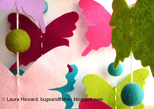 paper butterfly mobile instructions