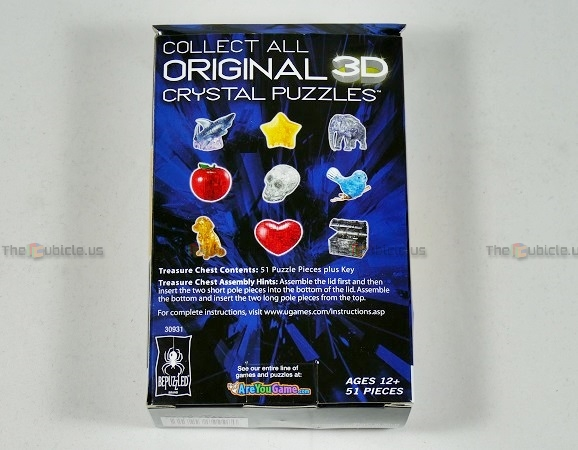 3d crystal puzzle black treasure chest instructions