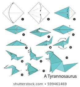 origami instructions step by step dragon