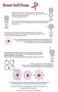 self breast exam instructions handout