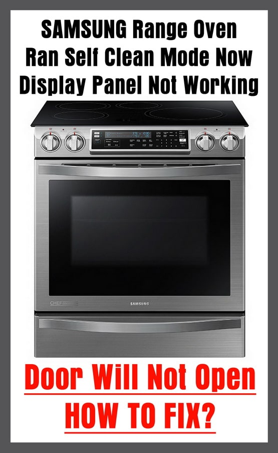 samsung stove self clean instructions