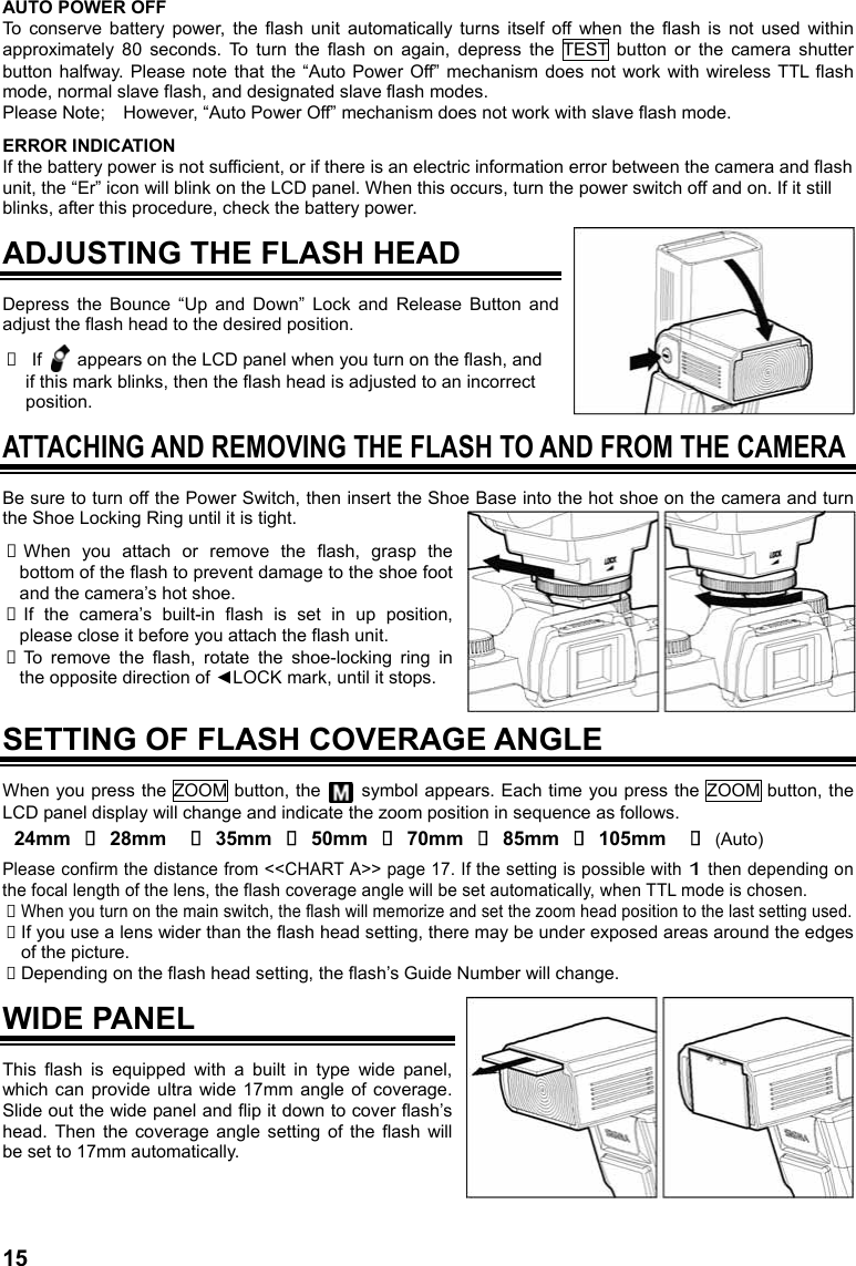 sigma ef 610 dg super instructions