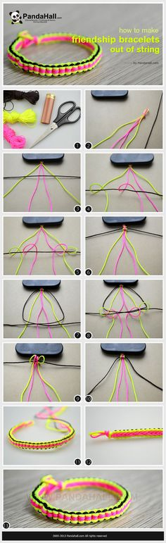 friendship bracelet patterns easy step by step instructions