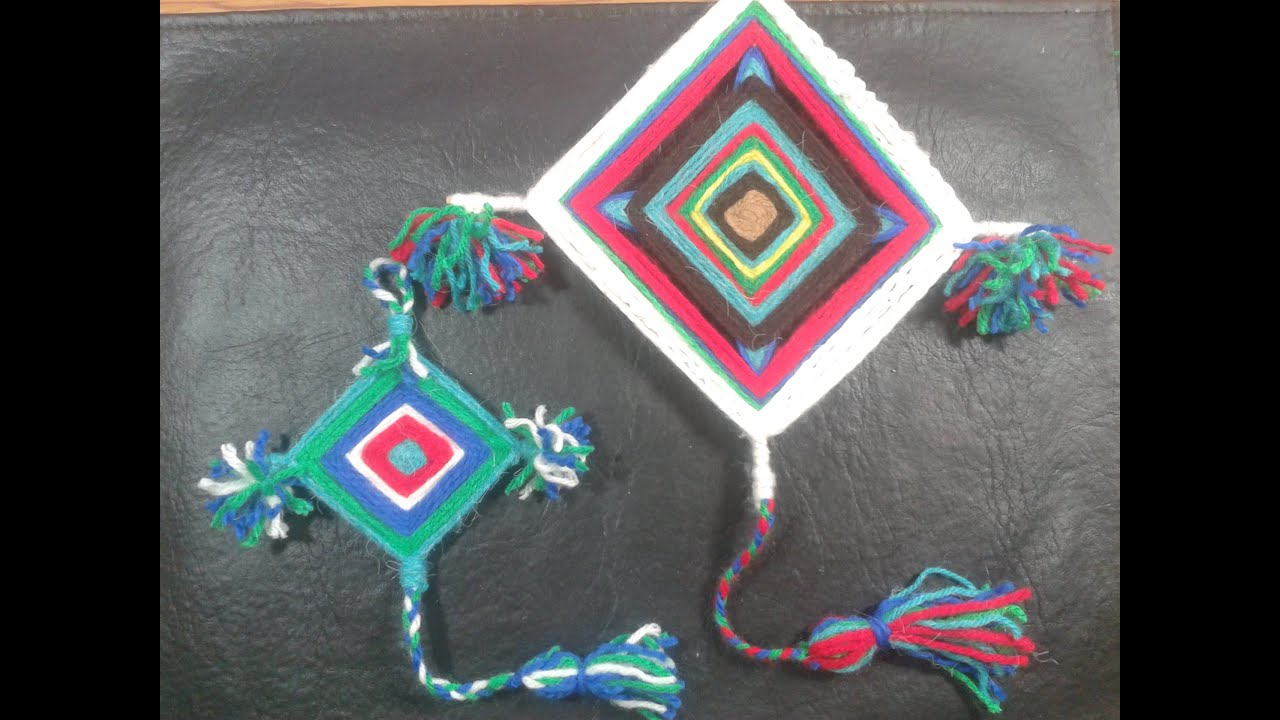 instructions to make ojo de dios