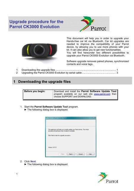 parrot ck3000 evolution instruction manual