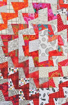 instructions to make an asian scrappy quilts