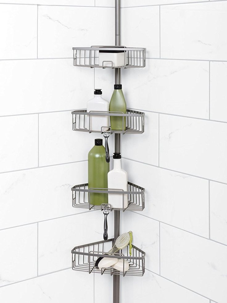 style selections pole shower caddy instructions