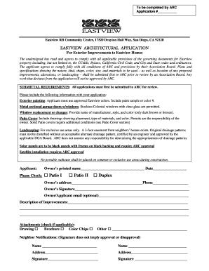 arc decra instructions to applicants