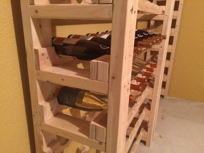 build a wine rack instructables