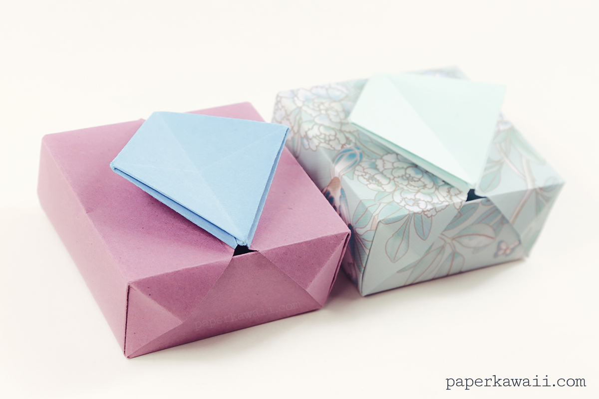 origami storage box instructions