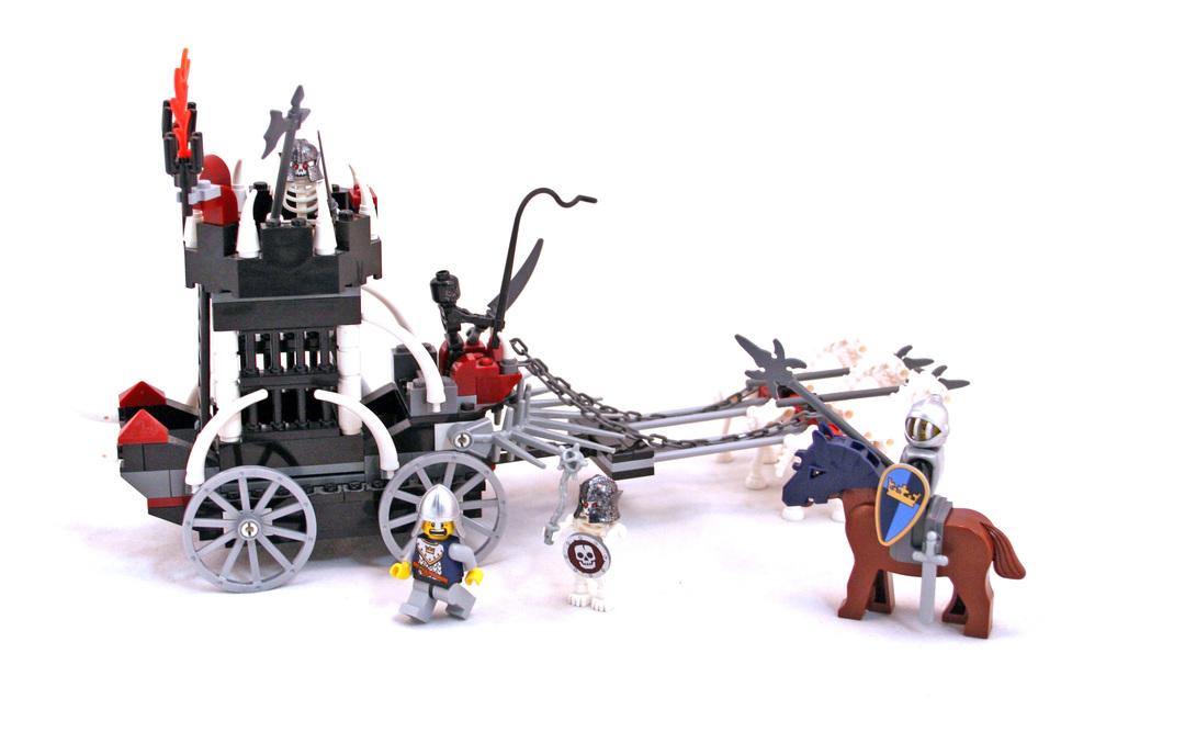 lego castle skeleton prison carriage instructions