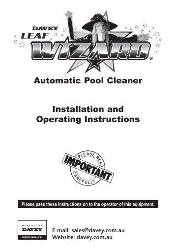 davey sand filter installation instructions
