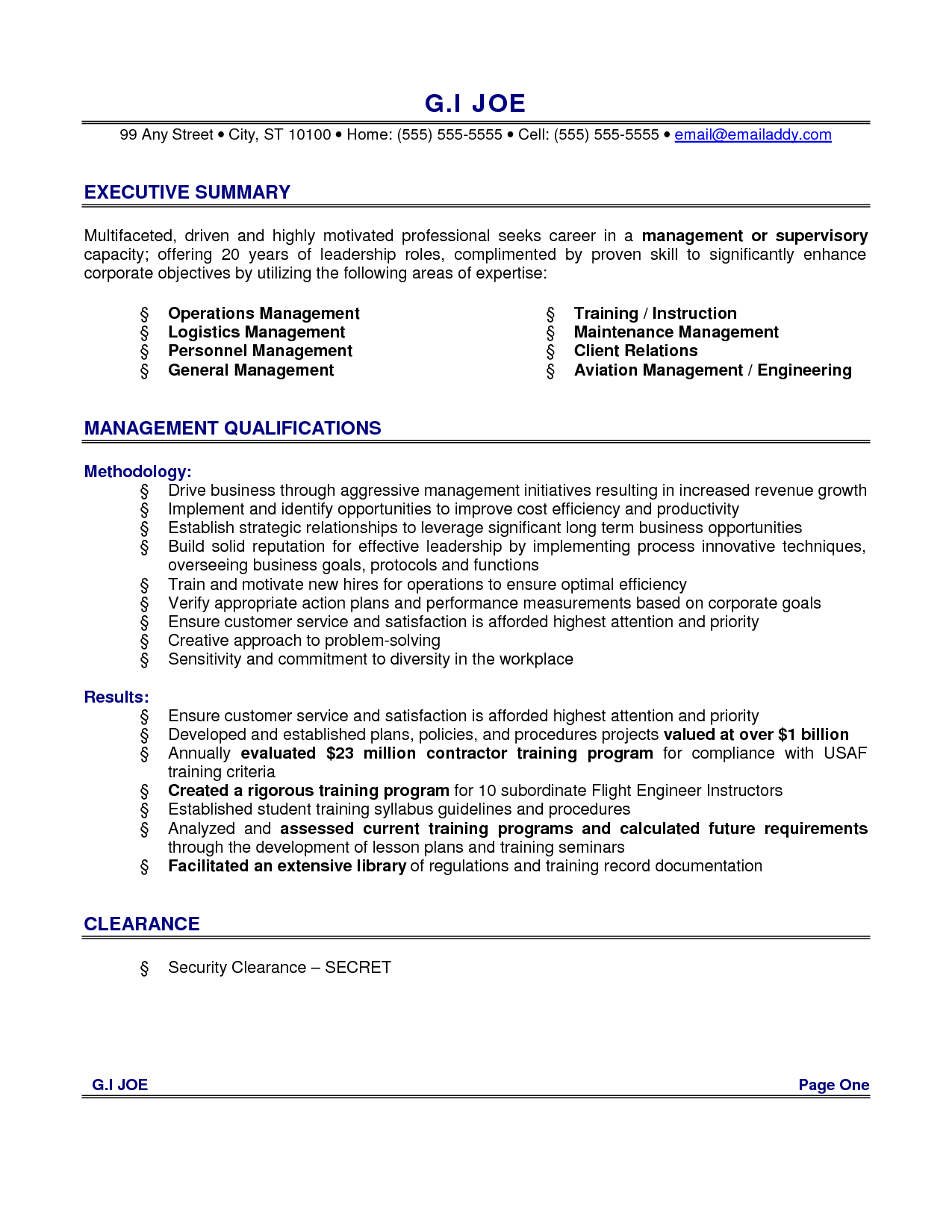 resume able to follow instruction and