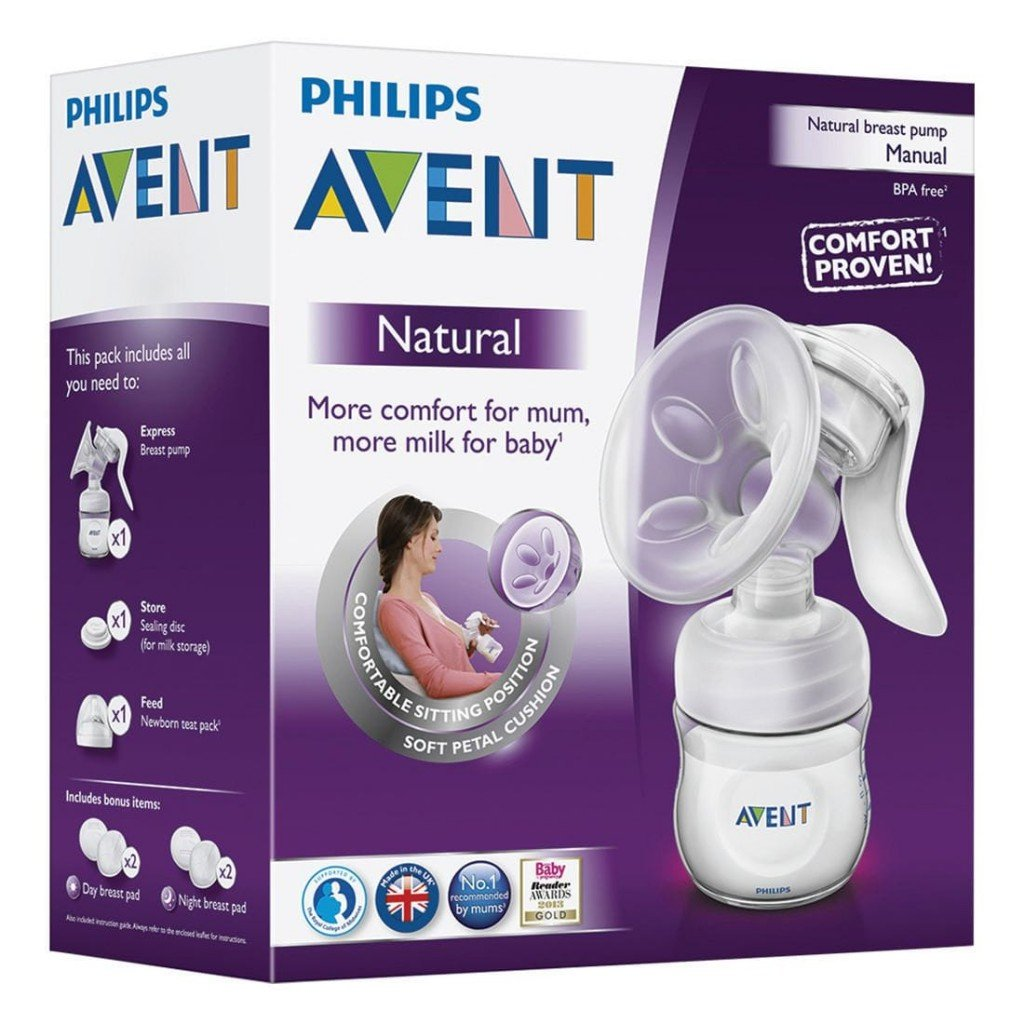 avent comfort manual breast pump instructions