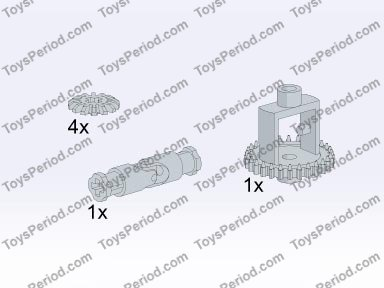 old technic gear instructions