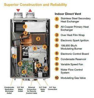 rheem gas hot water system instructions