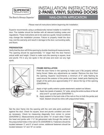 aluminium door installation instructions