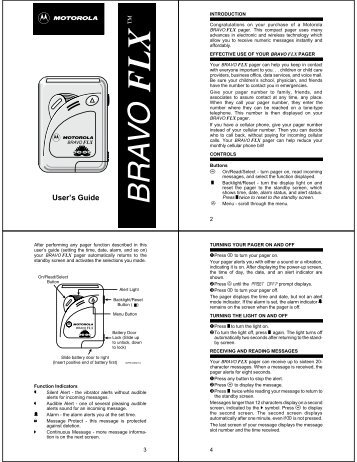 american messaging pager instructions