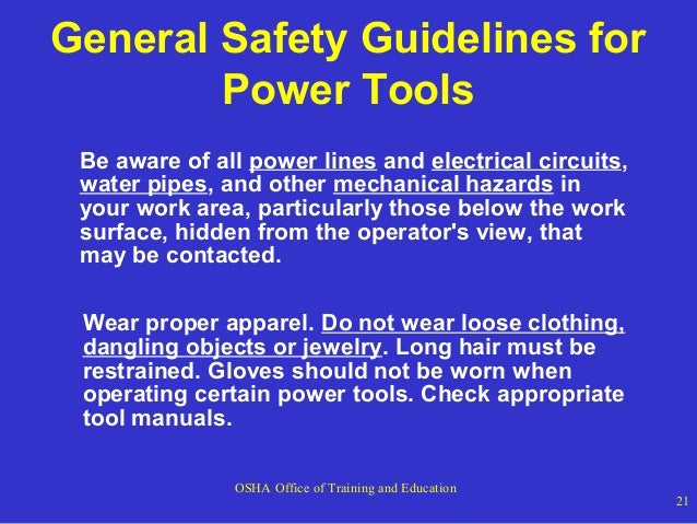 safe work instruction hand tools