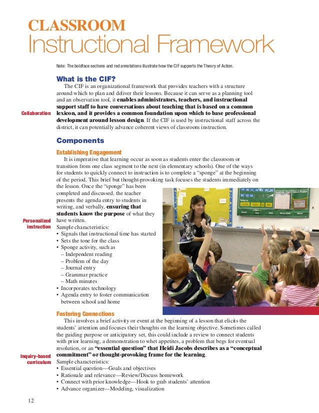 instructional framework and lesson structure