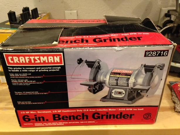 craftsman 6 inch bench grinder instructions