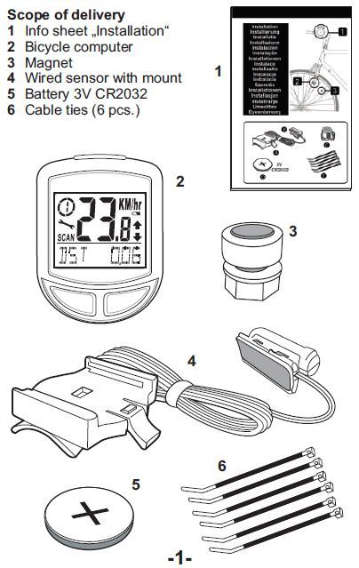 crivit bike computer instructions