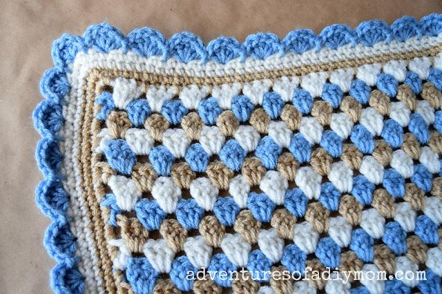 crochet granny stripe instructions