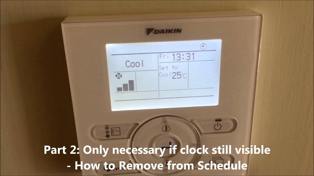 daikin split system instructions timer