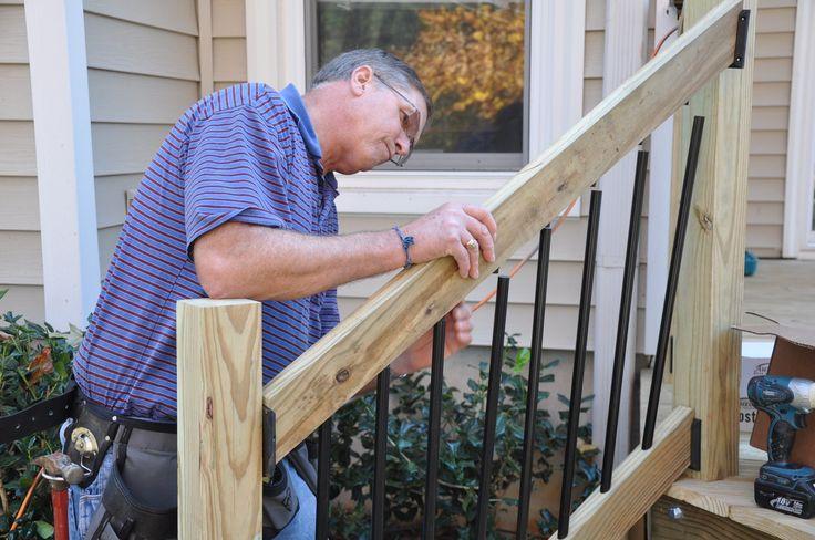 deck railing installation instructions