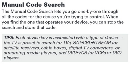 direct tv remote control instructions