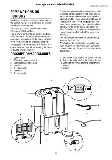 delonghi dehumidifier cf08m instruction manual