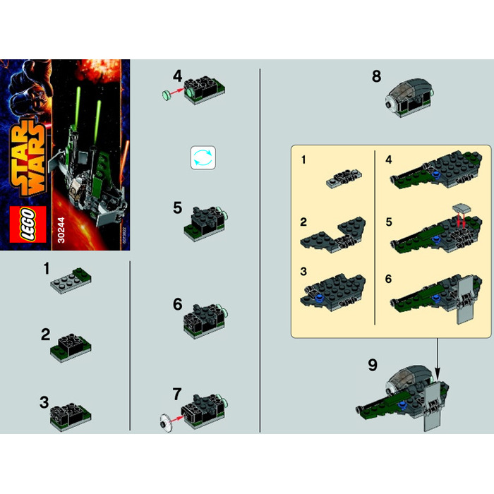 lego anakin interceptor instructions