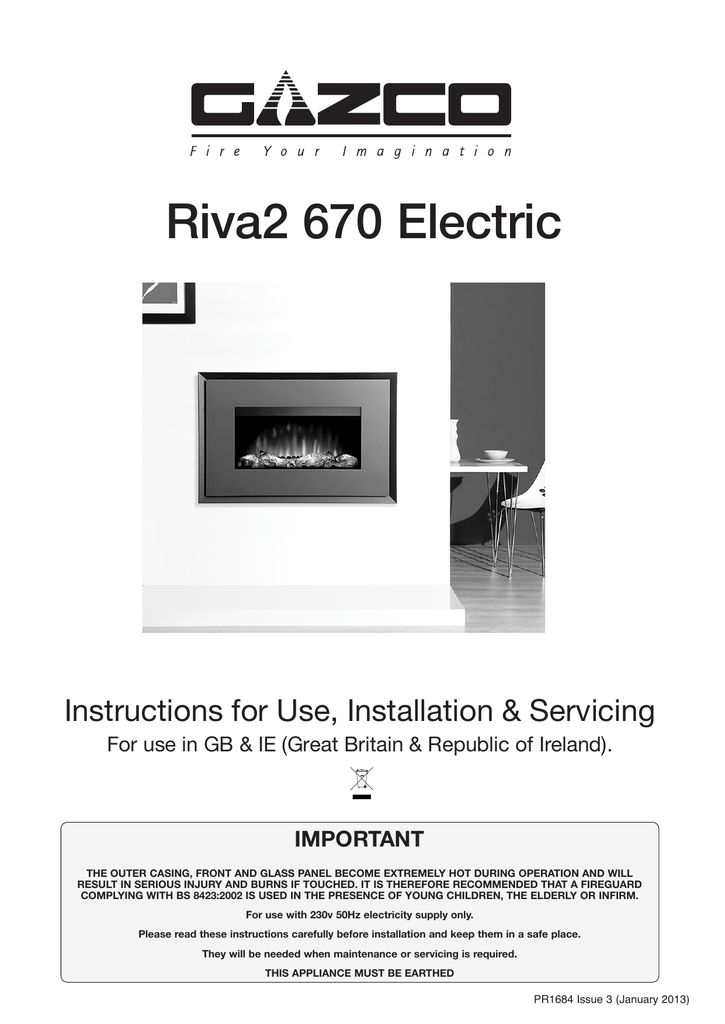 gazco electric fires instructions