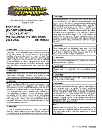 gq body lift instructions