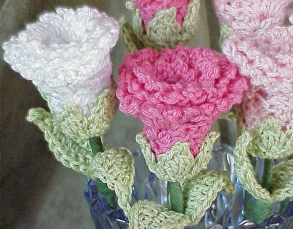 instructions on how to crochet rose flower