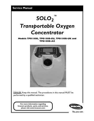 invacare oxygen concentrator instructions