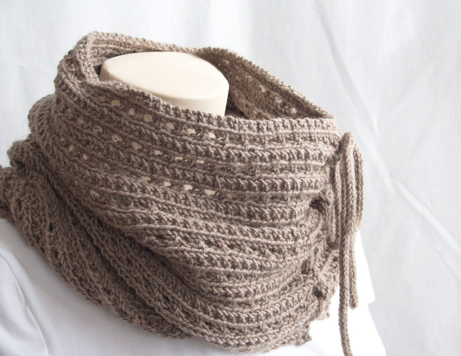 knitting instruction for infinity scarf