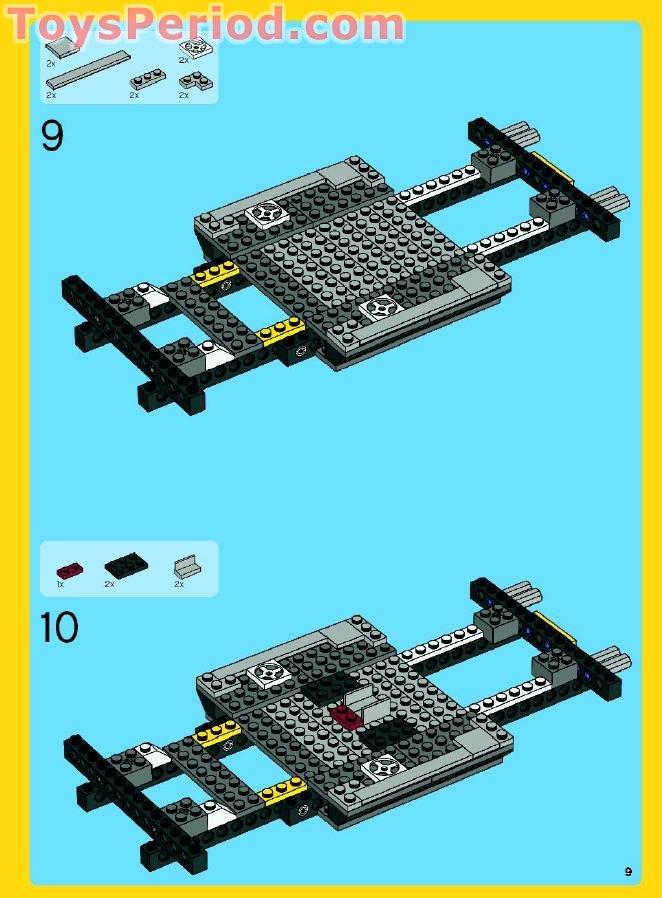 lego creator 4993 cool convertible instructions