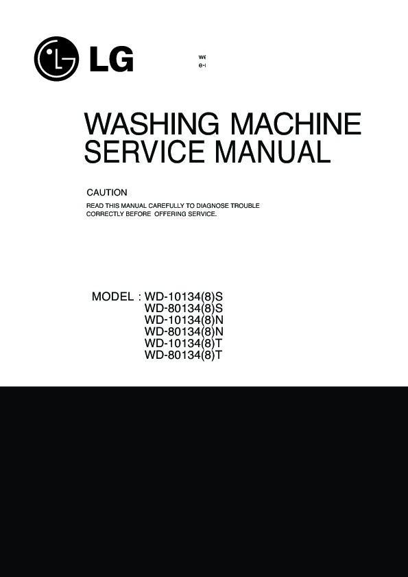 lg wd 8013f instructions